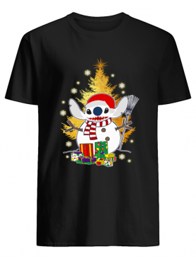 Santa Stitch Make Snowman Christmas Shirt