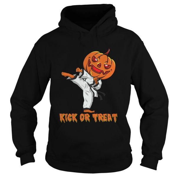 Taekwondo Kick Or Treat Pumpkin Halloween Shirt Hoodie