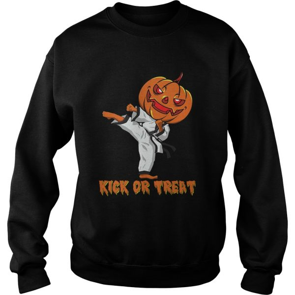 Taekwondo Kick Or Treat Pumpkin Halloween Shirt Sweatshirt
