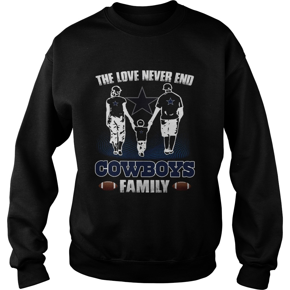 The love never end Chiefs Cowboys Sweatshirt