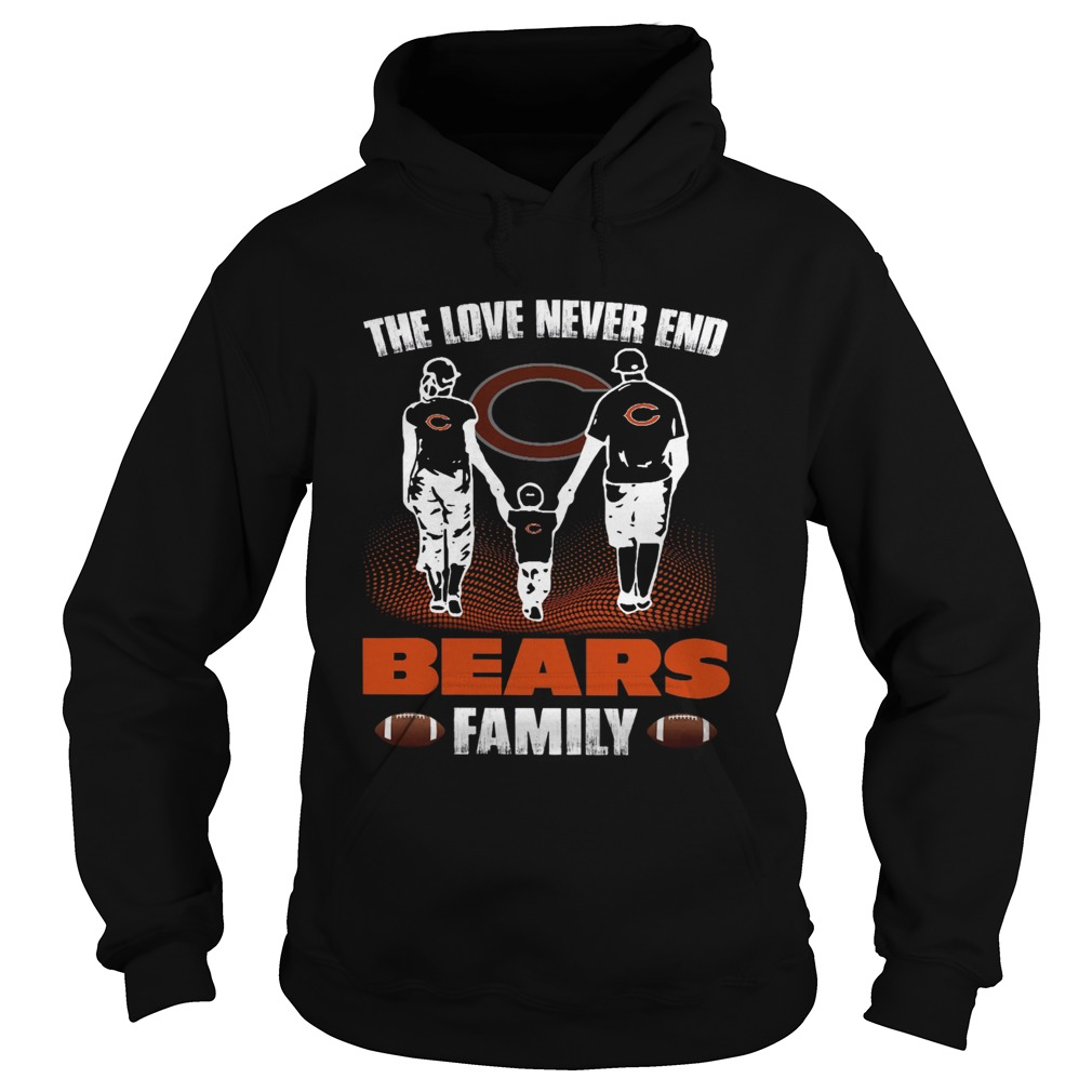 The love never end bears family Hoodie