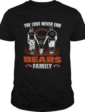 The love never end bears family shirt