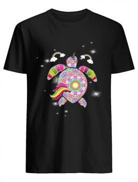 Unicorn Turtle Color Turtle Lover Gift T-Shirt