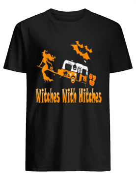 Witches With Hitches Camping Funny Halloween Womens shirt