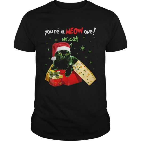 Youre A MEOW One Mr Cat Christmas Holiday Funny TShirt Unisex