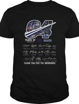 94 Years Of New York Giants 19252019 thank you for the memories shirt