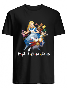 Alice In Wonderland F.R.I.E.N.D.S TV show Mashup shirt