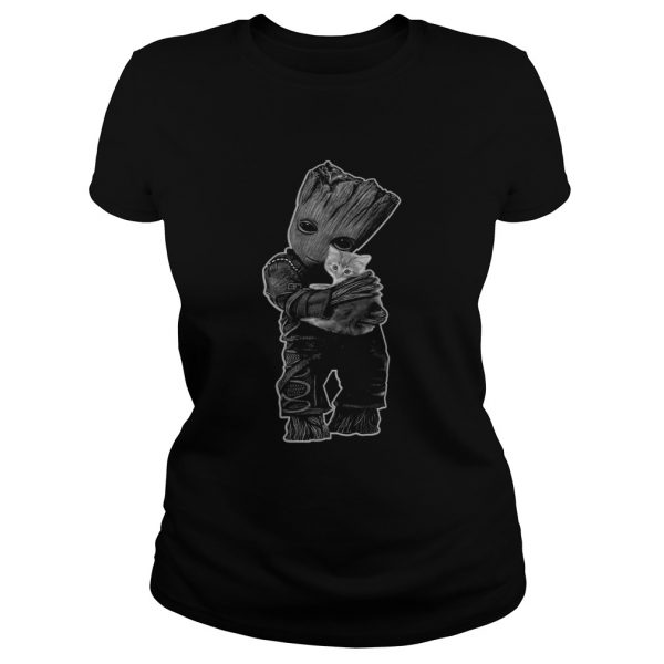 Baby Groot hug Cat  Classic Ladies