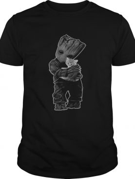Baby Groot hug Cat shirt