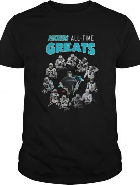 Carolina Panthers AllTime Greats Team Signatures shirt