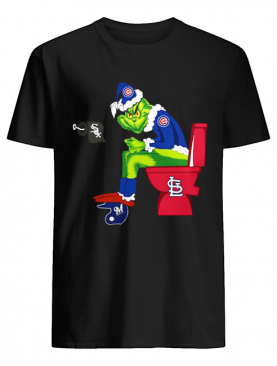 Chicago Cubs Grinch Santa Sitting St.Louis Cardinals Chicago White Sox Milwaukee Brewers shirt