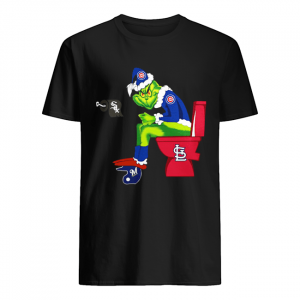 Chicago Cubs Grinch Santa Sitting St.Louis Cardinals Chicago White Sox Milwaukee Brewers  Classic Men's T-shirt