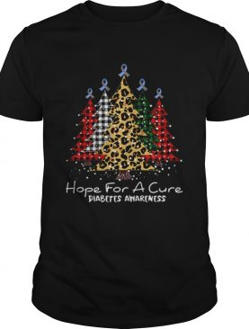 Christmas tree hope for a cure Diabetes Awareness shirt