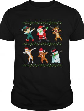 Dabbing Santa Basenji And Friends Christmas shirt