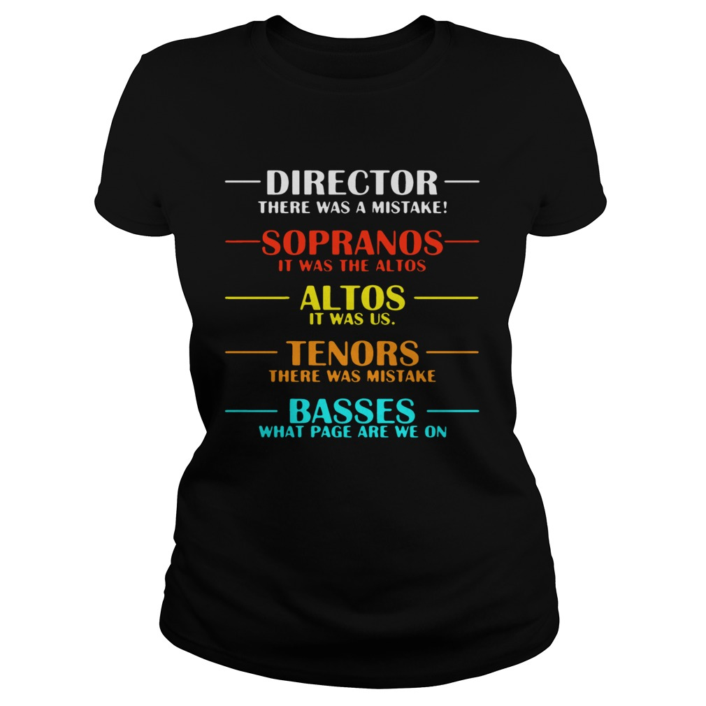 Director there was a mistake sopranos it was the altos Classic Ladies