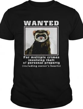 Ferrets Wanted for multiple crimes involving shirt