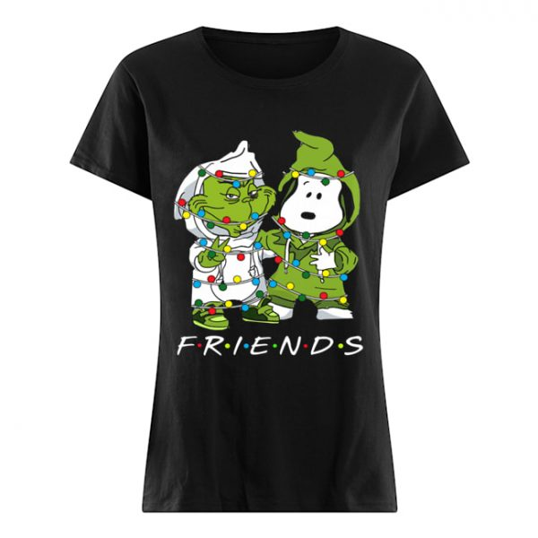 Friends Grinch and Snoopy light christmas  Classic Women's T-shirt