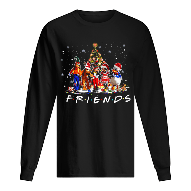 Friends Mickey Mouse characters christmas tree Long Sleeved T-shirt