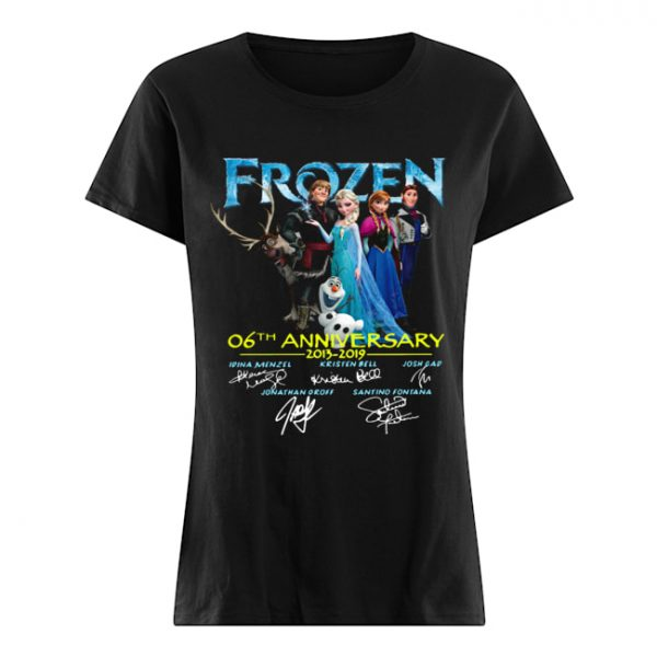 Frozen 06th anniversary 2013 2019 signatures  Classic Women's T-shirt