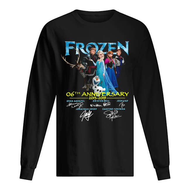 Frozen 06th anniversary 2013 2019 signatures Long Sleeved T-shirt