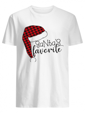 Funny Christmas Gift Santa's Favorite With Santa Hat shirt