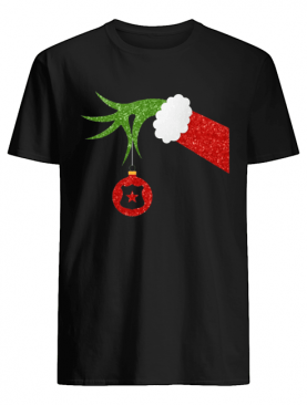 Funny Grinch Hand holding Police ornament Christmas shirt