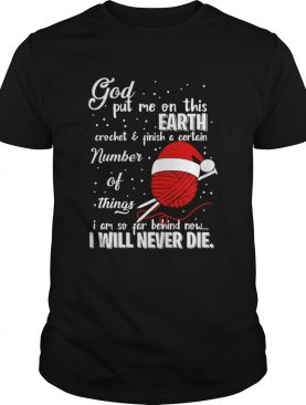God Put Me On This Earth Crochet Yarn Christmas shirt