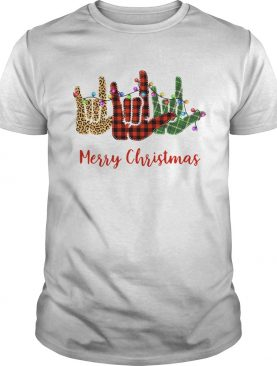 Hand I Love You Merry Christmas shirt