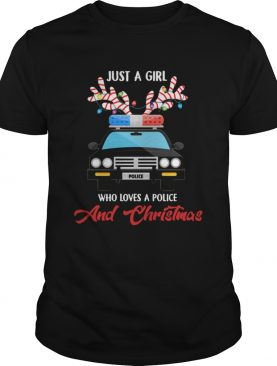 Just A Girl Who Loves PoliceChristmas shirt