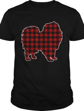Keeshond Christmas Dog Buffalo Plaid shirt
