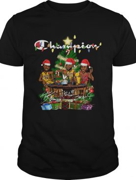 LeBron James Kobe Bryant Michael Jordan Champion Christmas Tree shirt