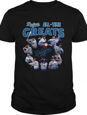 Los Angeles Dodgers all time great players signatures shirt
