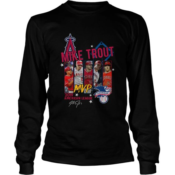 Mike Trout Los Angeles Angels MVP American League 2019 Signature  LongSleeve