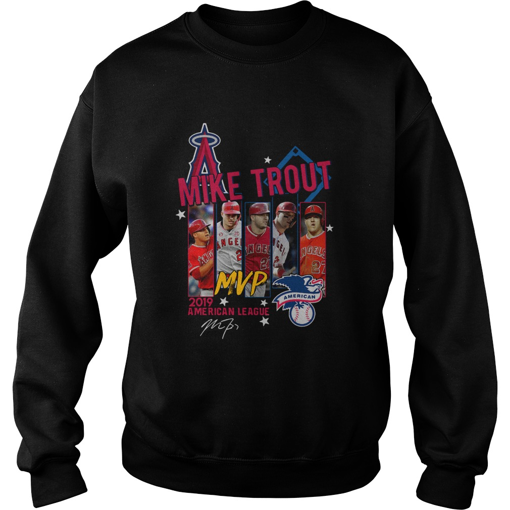 Mike Trout Los Angeles Angels MVP American League 2019 Signature Sweatshirt
