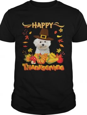 Nice Happy Thanksgiving Bichons Frise Dog Im Thankful For My shirt
