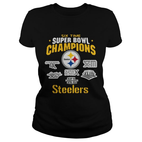 Pittsburgh Steelers NFL Six Time Super Bowl Champions  Classic Ladies