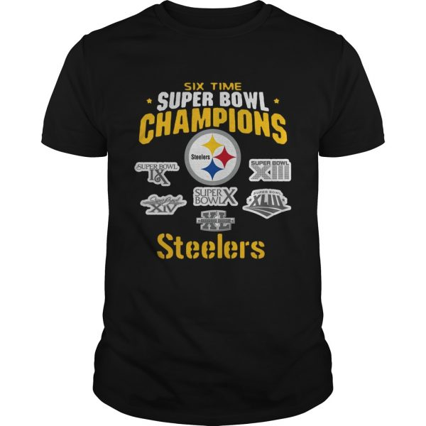 Pittsburgh Steelers NFL Six Time Super Bowl Champions  Unisex
