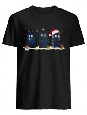 Police Box Reindeer Christmas shirt