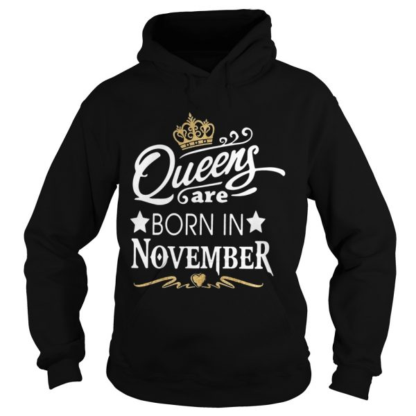 Queen Are Born In November Crown  Hoodie
