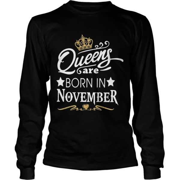 Queen Are Born In November Crown  LongSleeve