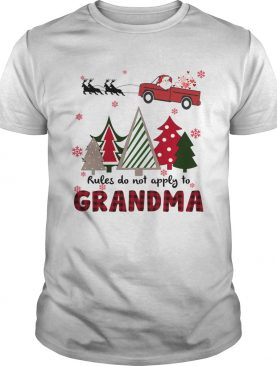 Rules Do Not Apply To Grandma Funny Christmas shirt