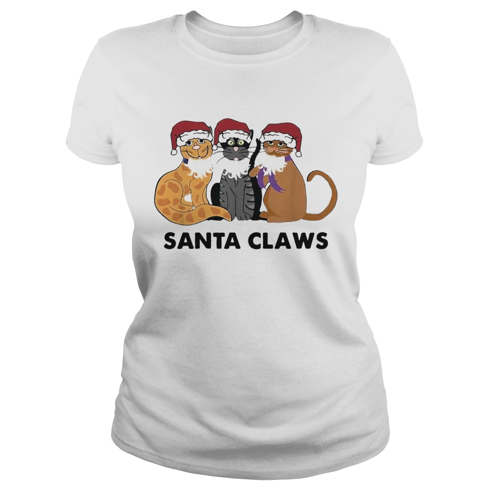 Santa Claws Cats Christmas uglyt Classic Ladies