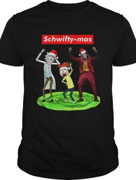 Schwifty mas Rick and Morty and Joker dancing shirt