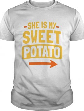 She Is My Sweet Potato Couples Matching Thanksgiving shirt
