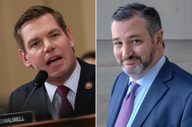 Ted Cruz rips Eric Swalwell's fartgate scandal with Steve Martin clip