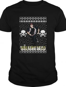 The Walking Dead Glenn Rhee Santa Hat Ugly Christmas shirt