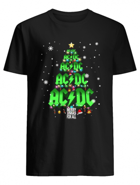 AC DC tree Christmas merry Xmas for all shirt