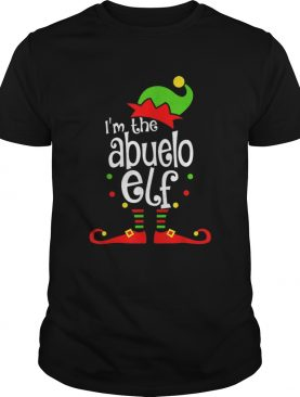 Abuelo Elf Christmas Spanish Grandpa Matching Family Xmas shirt