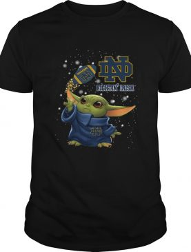 Baby Yoda Notre Dame Fighting Irish shirt