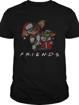 Baby Yoda and Baby Gizmo Santa Friends Christmas shirt